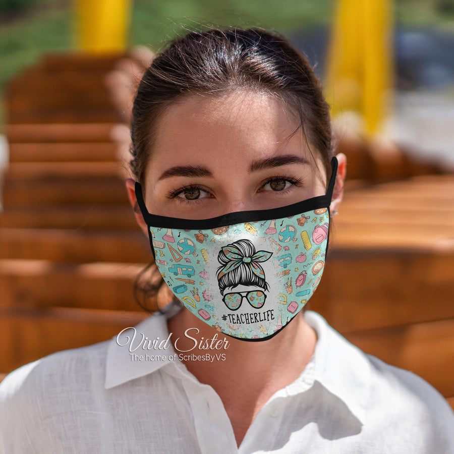 Teacher Life Face Mask Reusable Washable