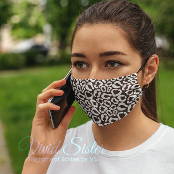Animal Print Cocoa Face Mask Washable with Filter