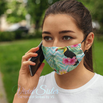 Toucan Green Face Mask Washable with Filter