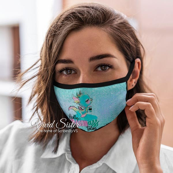 Really Dragon Ass Today Mask Reusable Washable