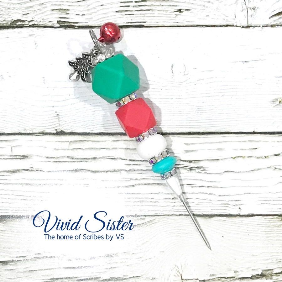 Christmas Jingle Bells Cookie Scribe Red Green