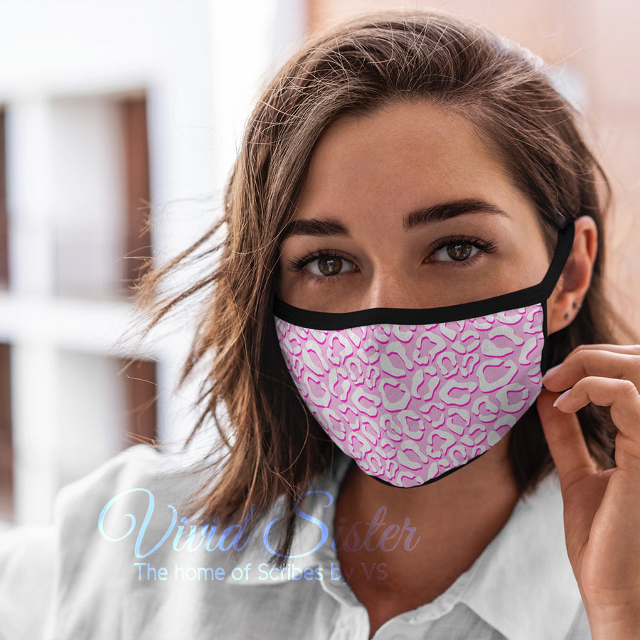 Animal Print Pink Face Mask Reusable Washable