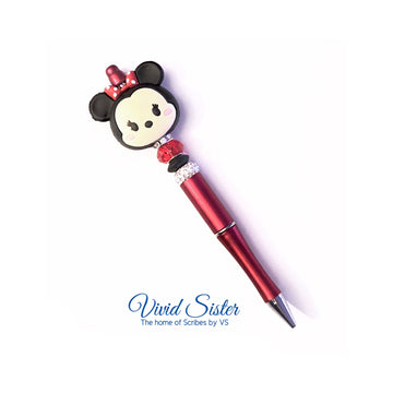 Minnie Red Pen with Bling