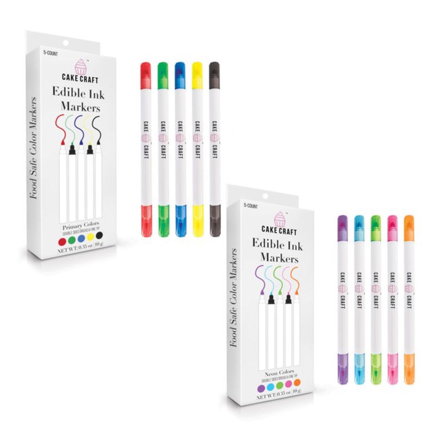 Edible Ink Markers - 5 Pack - Cake Craft Australia