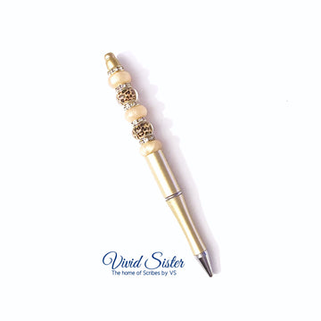 Stay Wild Gold Leopard Print Gold Pen