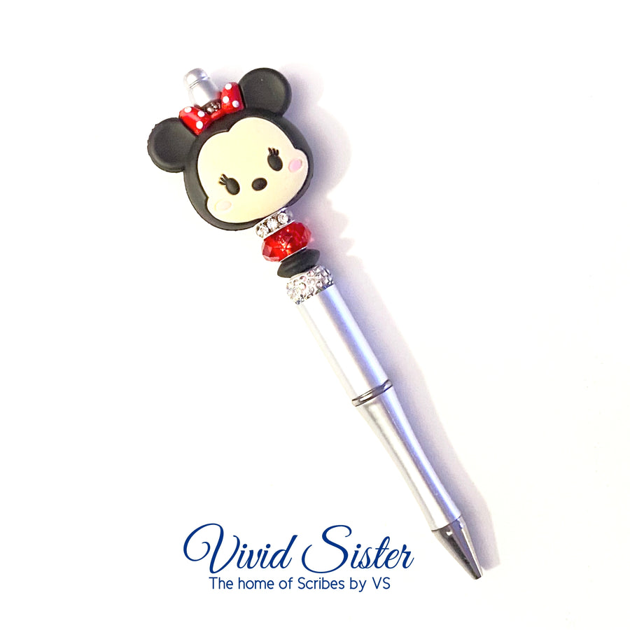 Minnie Silver Pen with Bling