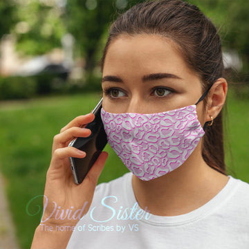 Animal Print Pink Face Mask Washable with Filter