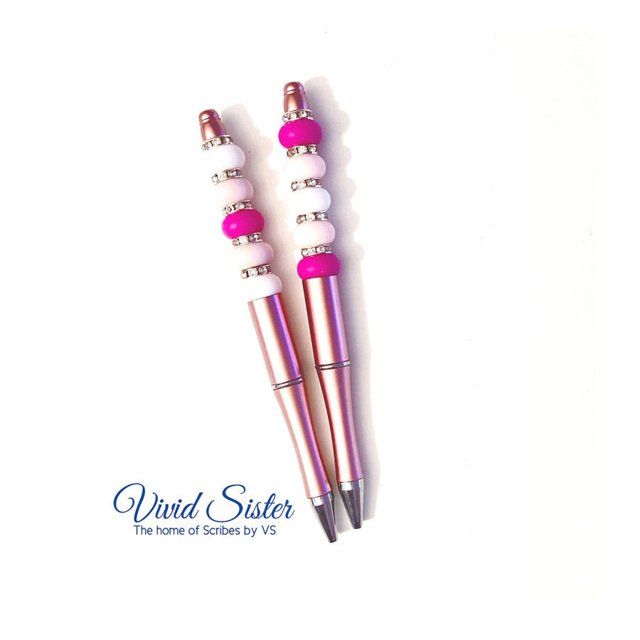 Pink Ombré Pen with Bling