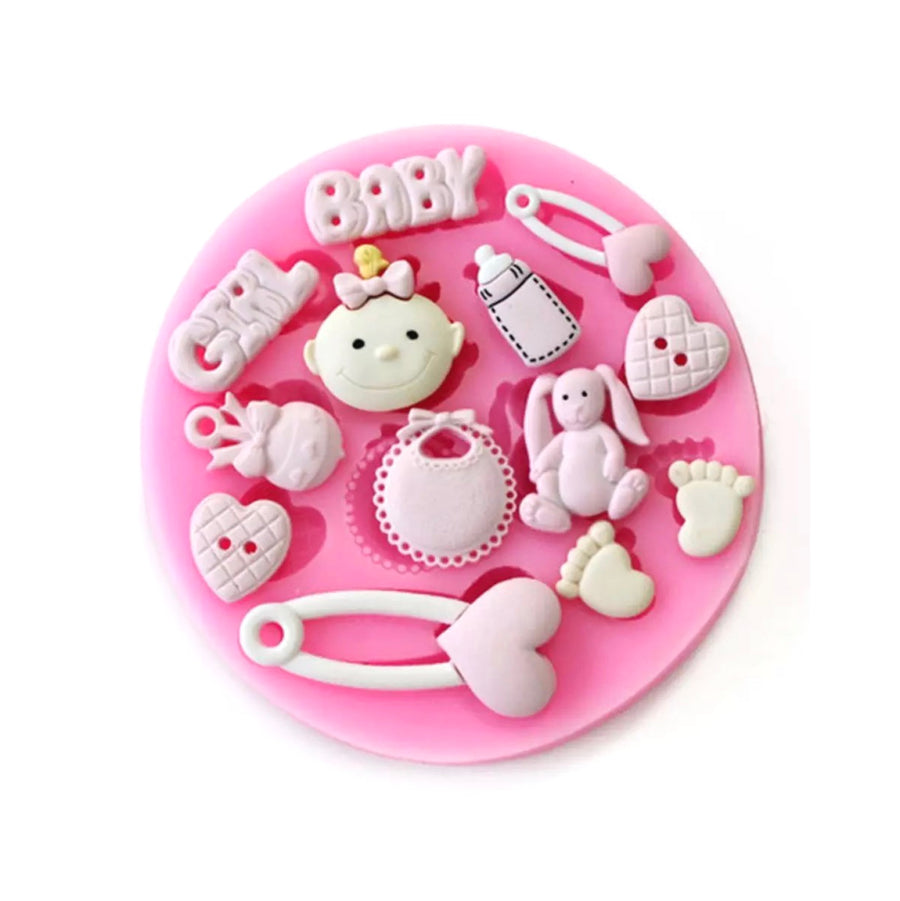Baby Girl Silicone Mould Fondant