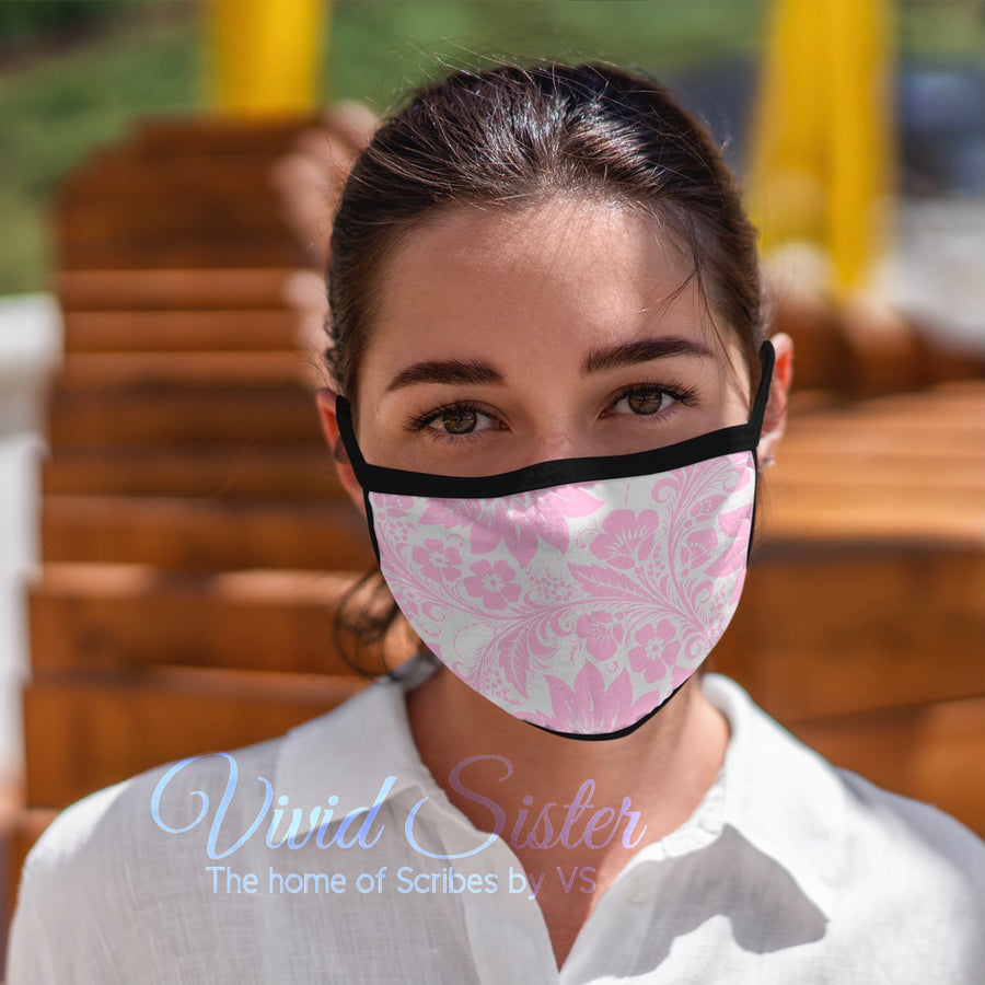 Pink Floral Face Mask Reusable Washable