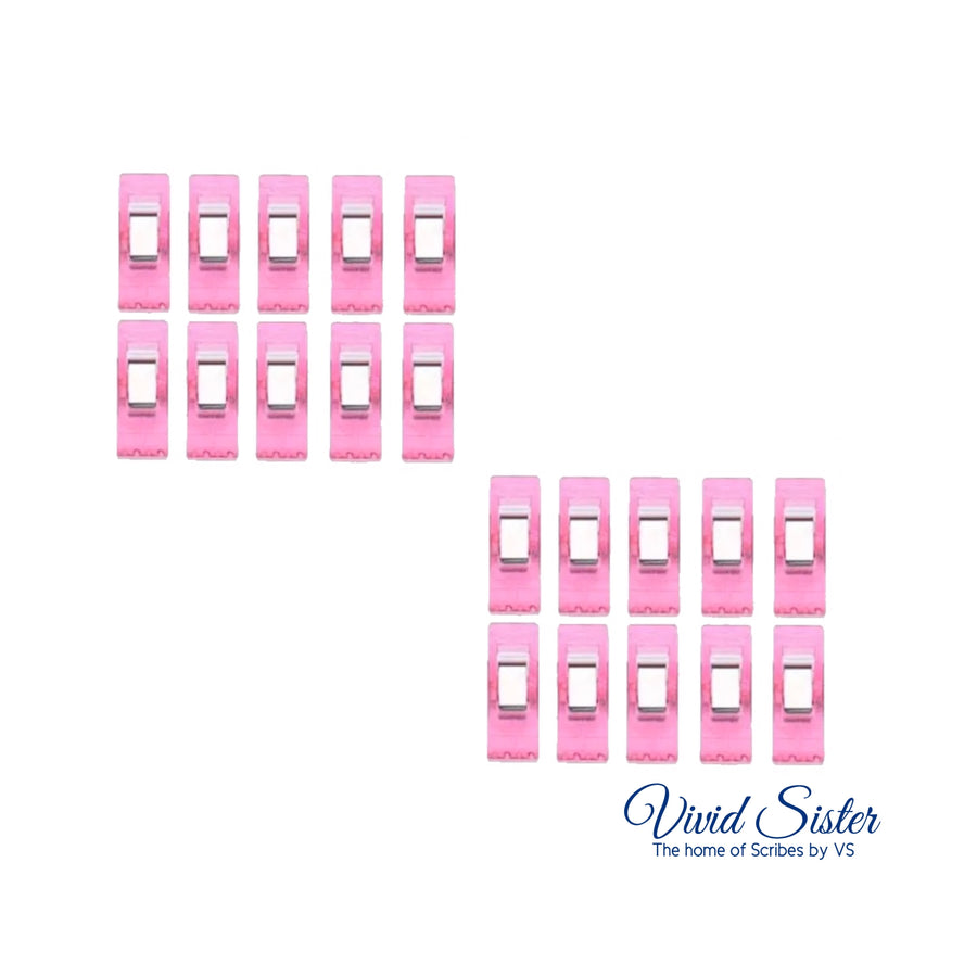 Pink Piping Bag Tip Clips Set of 10