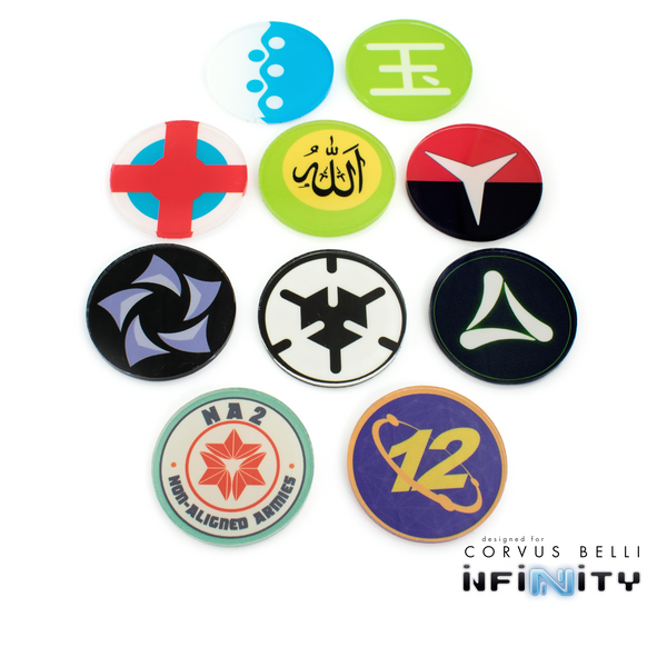 Infinity Faction Command Tokens