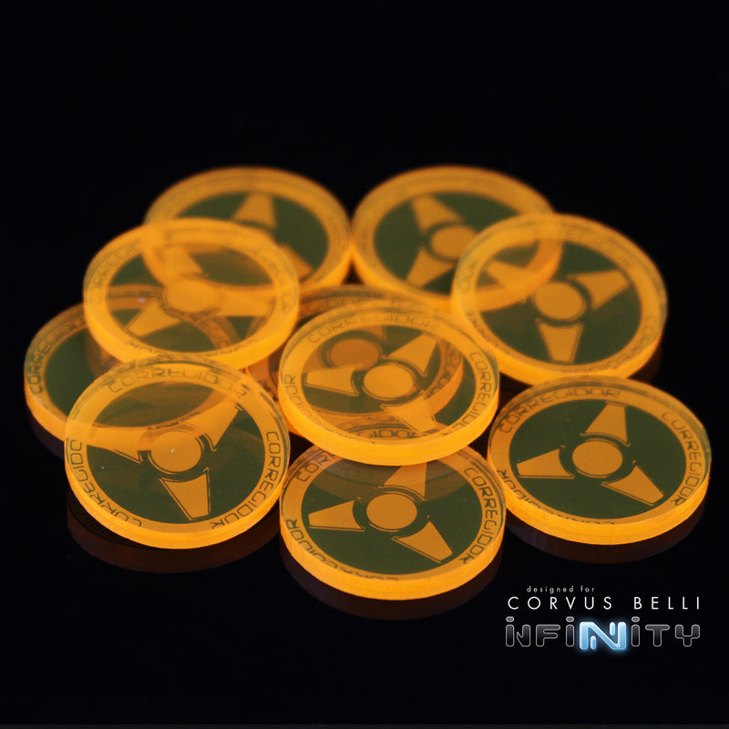 Acrylic Infinity Faction Markers, 25mm (Bag of 10)