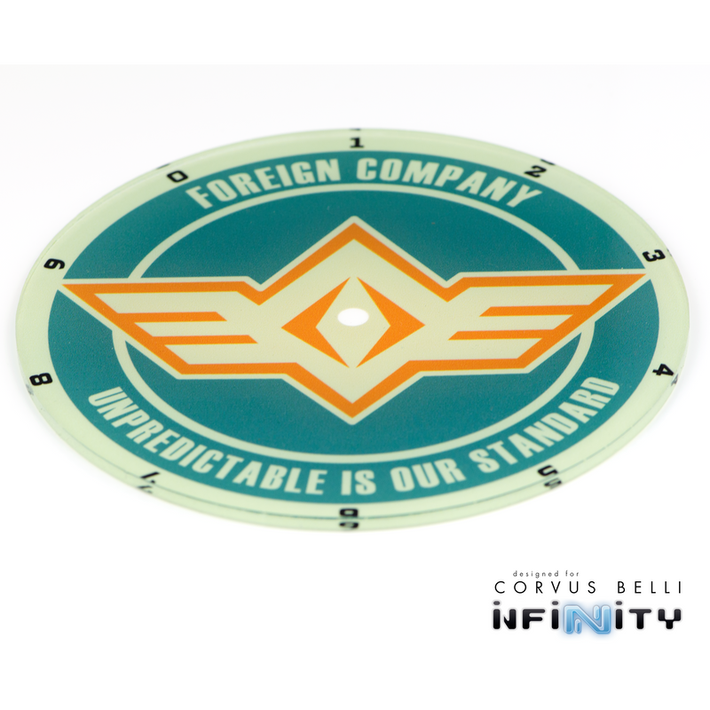 Infinity Full Color Faction Blast Templates