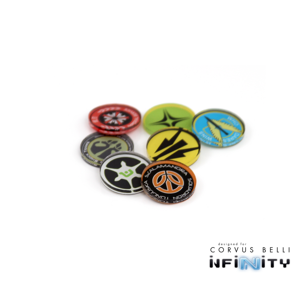 Infinity Full Color Unit Markers - Combined Army