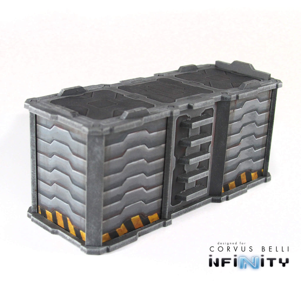Infinity the game terrain large shipping containers mdf for Tall shipping container