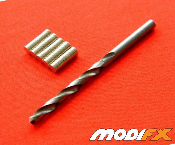 Rare Earth Magnet Starter Pack 4.75MM/DIA (50ct + Drill Bit)