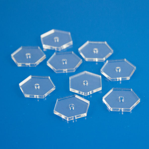 Clear Hex Flight Bases