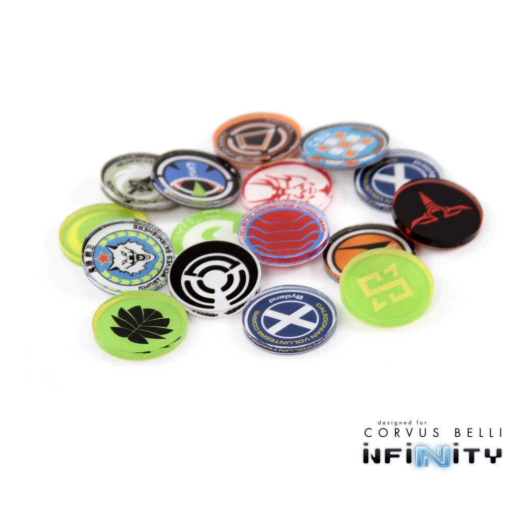 Infinity Full Color Unit Markers - Mercenaries