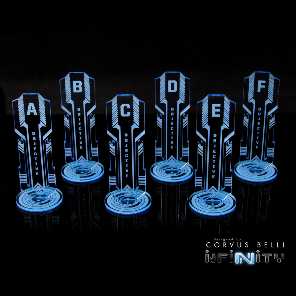 Acrylic Sci Fi Objectives 6 Pack