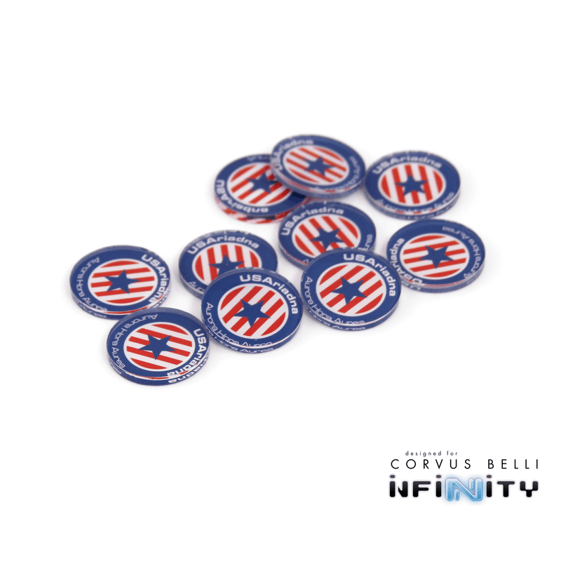 Full Color Infinity Faction Markers, 25mm (Bag of 10)