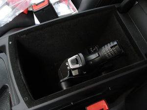 Car holster in center console box of car semi-auto