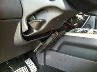 Under steering column mounted car holster all leather