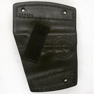 back of car holster all leather black colt 1911