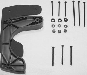 Mounting kit for car holsters includes riser, screws, washers, and nuts