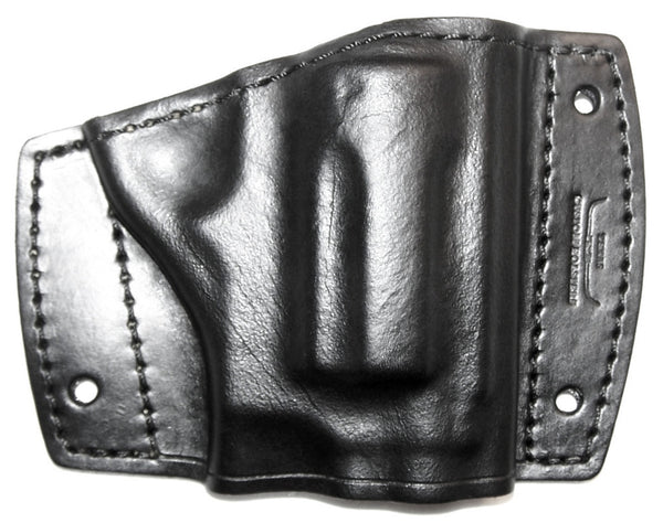 Car holster leather, black for revolver
