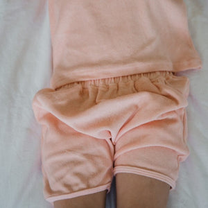 PEACH TERRY SET