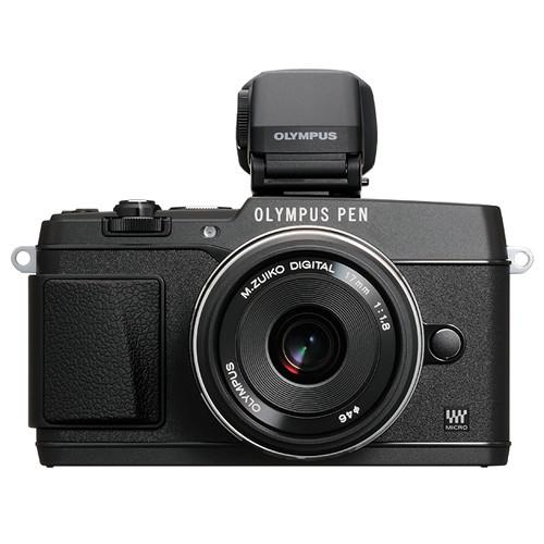 Olympus E-P5 with 17mm f/1.8 and VF-4 Kit