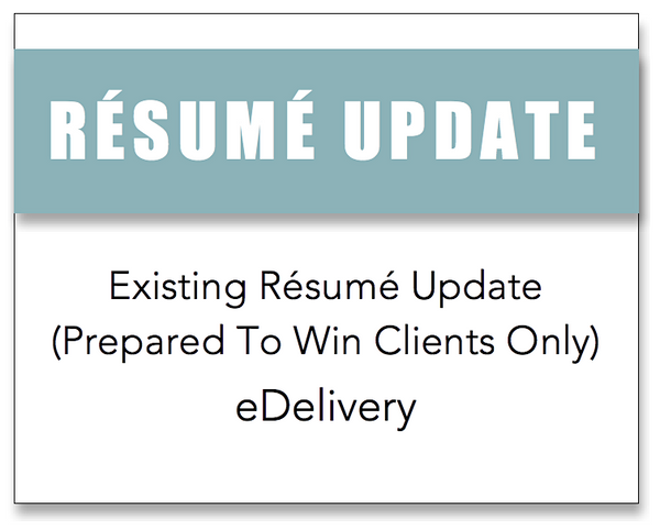 Résumé Update (Returning Clients)