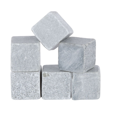 Glacier Rocks: Set of 6 Soapstone Cooling Cubes