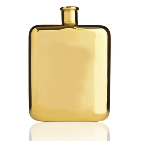 Belmont 14K Gold Plated Hip Flask