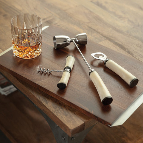 Admiral Three Piece Bone Handle Bar Set