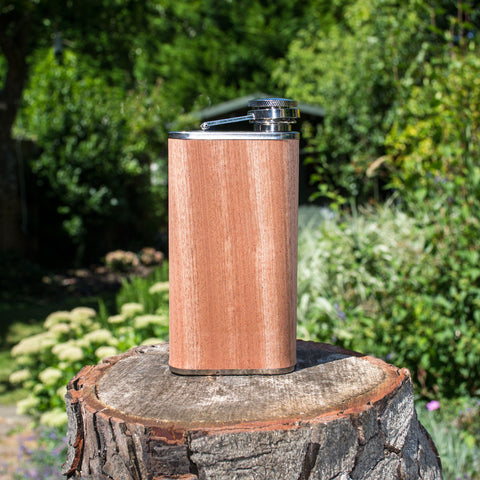 Wood Veneer Hip Flask