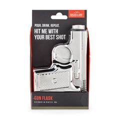 Gun Hip Flask - Stainless Steel | Only £19.99