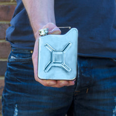 Gas Can Hip Flask - Stainless Steel | Only £18.99