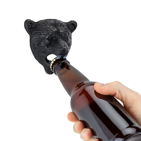 Wall Mounted Bear Bottle Opener