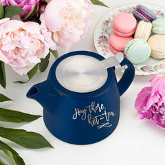 Harper Hey There, Hot-Tea Ceramic Teapot and Infuser - Only £26.99