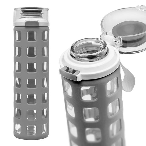 ELLO Syndicate Glass Water Bottle - Grey
