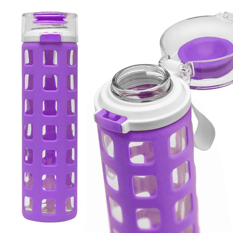 ELLO Syndicate Glass Water Bottle - Purple