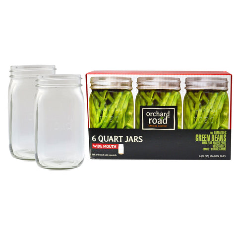 Orchard Road Canning Jars - 32oz Quart Wide Mouth