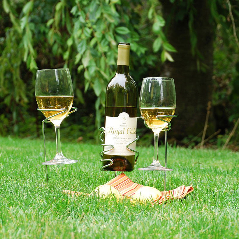 Picnic Stix - Wine Glass and Bottle Holder