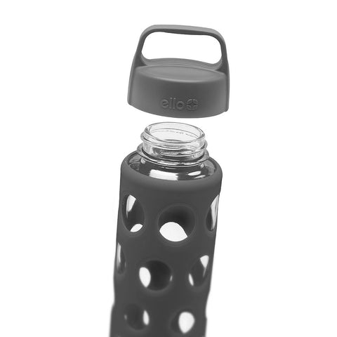 ELLO Pure Glass Water Bottle - Grey