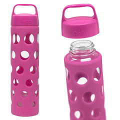ELLO Pure Glass Water Bottle - Pink - Only £11.99 | Uberstar