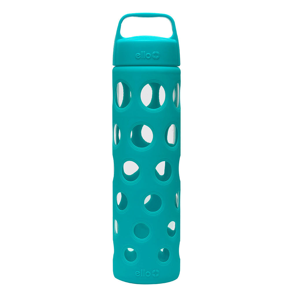 ELLO Pure Glass Water Bottle - Teal | Only £11.99 | Uberstar