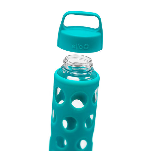 ELLO Pure Glass Water Bottle - Teal