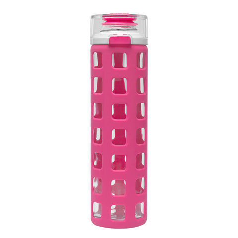 ELLO Syndicate Glass Water Bottle - Pink